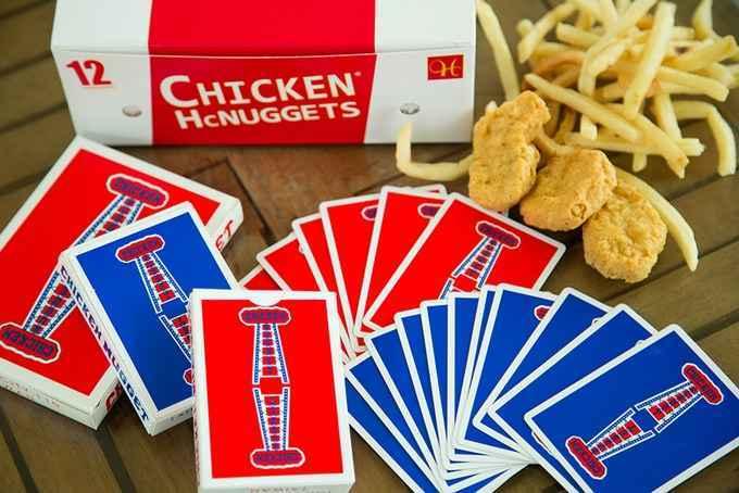 Kết quả hình ảnh cho CHICKEN NUGGET PLAYING CARDS