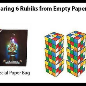 Appearing-6-Rubiks-from-Empty-Paper-Bag