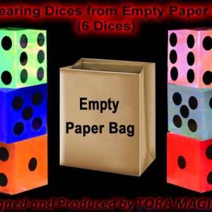 Appearing-Dices-from-Empty-Paper-Bag-6-Dices