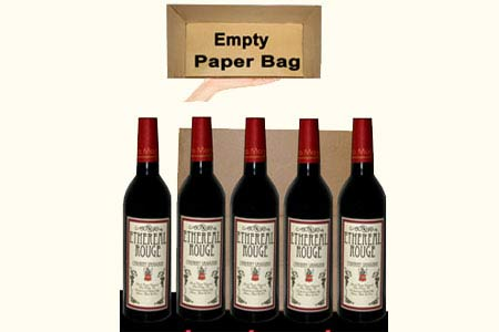 Appearing-Five-Wine-Bottles-from-Empty-Paper-Bag