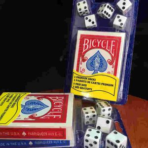 Bicycle 2-Decks-Standard-Poker-and-5-Dice-Set