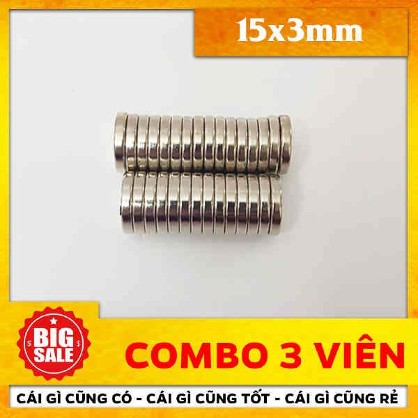 Nam Châm Tròn Vĩnh Cửu 15x3mm (67)