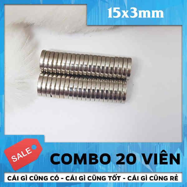 Nam Châm Tròn Vĩnh Cửu 15x3mm (70)