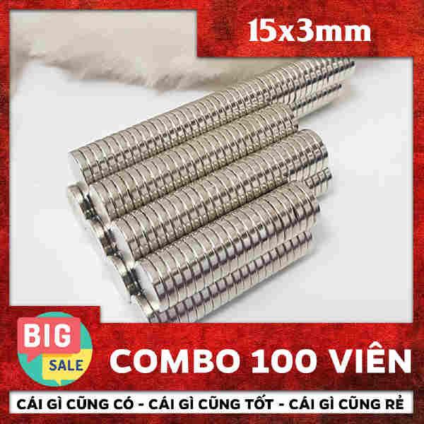 Nam Châm Tròn Vĩnh Cửu 15x3mm (73)