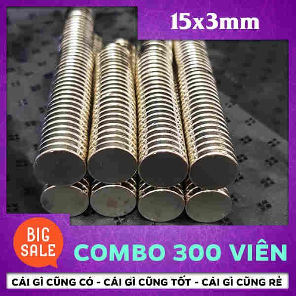 Nam Châm Tròn Vĩnh Cửu 15x3mm (75)
