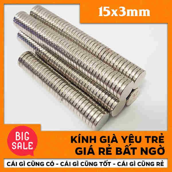 Nam Châm Tròn Vĩnh Cửu 15x3mm (81)