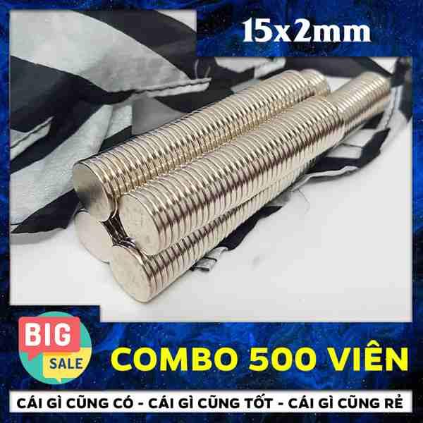 Nam Châm Vĩnh Cửu Hình Tròn D15x2mm (57)