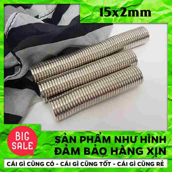 Nam Châm Vĩnh Cửu Hình Tròn D15x2mm (61)