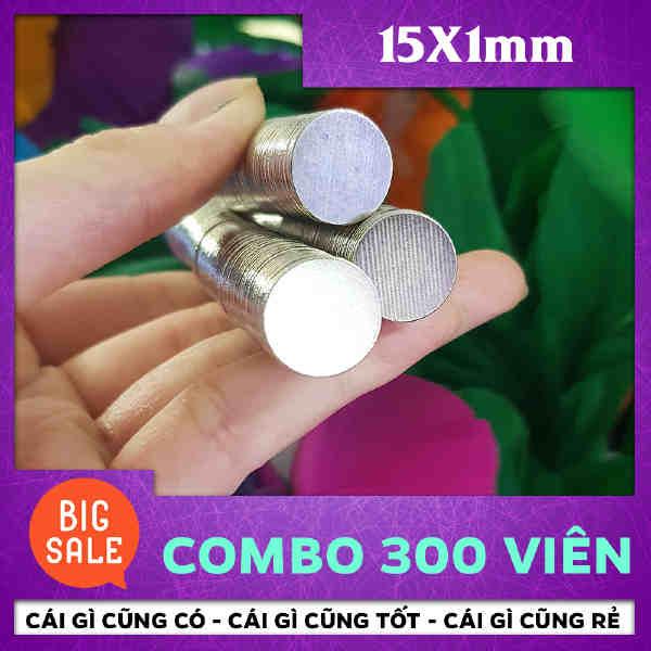 Nam châm đất hiếm tròn 15x1mm (10)