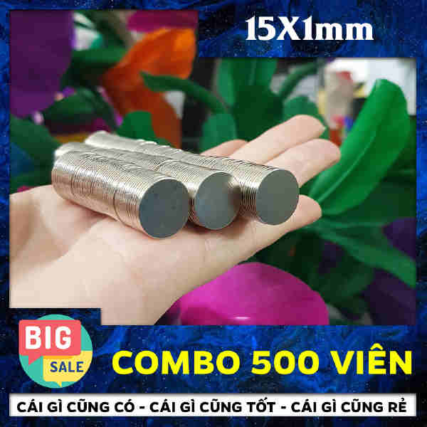 Nam châm đất hiếm tròn 15x1mm (11)