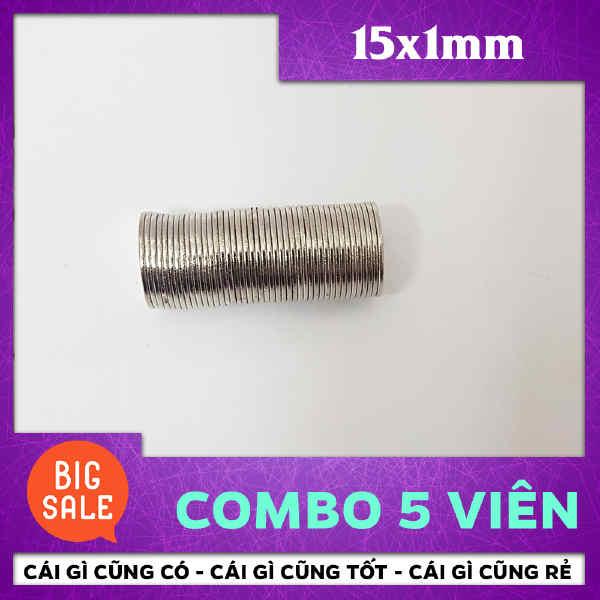 Nam châm đất hiếm tròn 15x1mm (3)