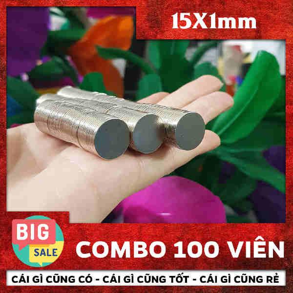 Nam châm đất hiếm tròn 15x1mm (8)