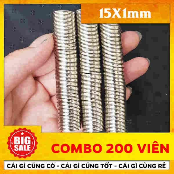 Nam châm đất hiếm tròn 15x1mm (9)