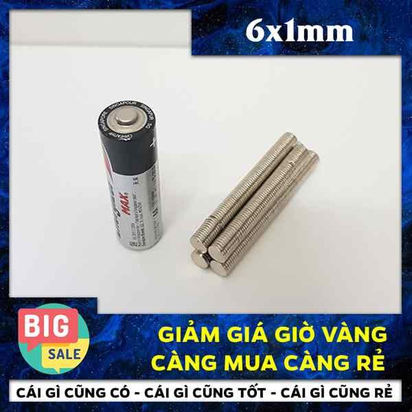 Nam châm tròn 6x1mm (15)