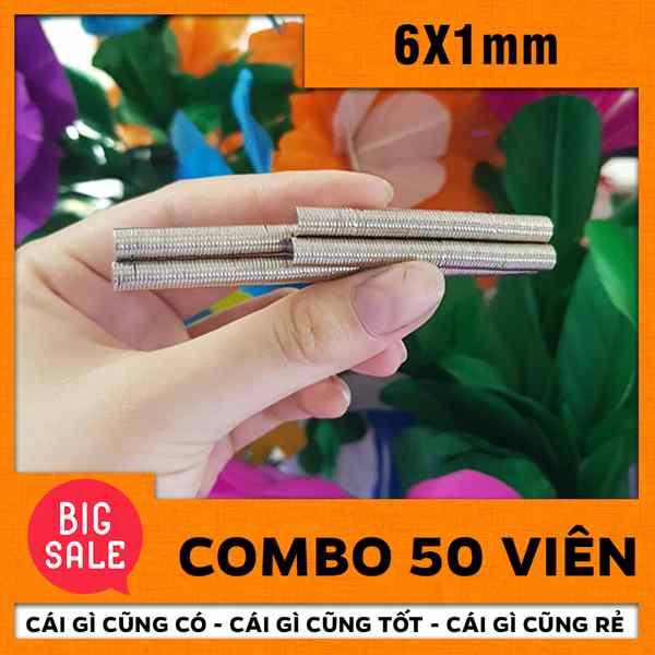 Nam châm tròn 6x1mm (8)
