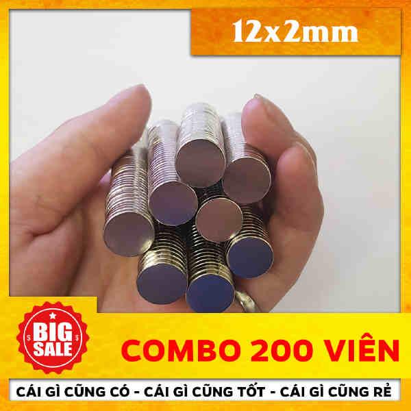 Nam châm vĩnh cửu tròn dẹp D12x 2mm (15)