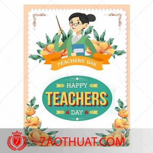Happy Teachers day restored paper