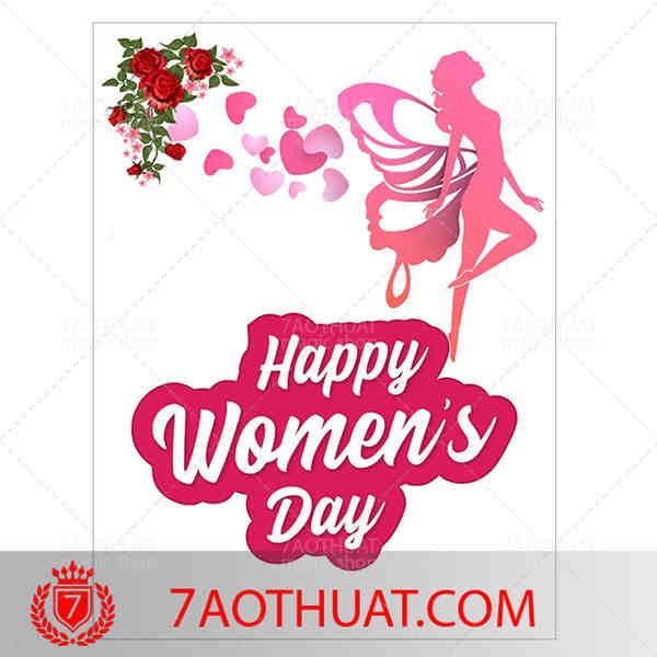 Happy women's day restored paper