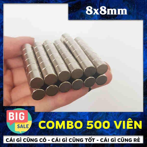 Nam Châm Đất Hiếm Trụ 8x8mm (35)