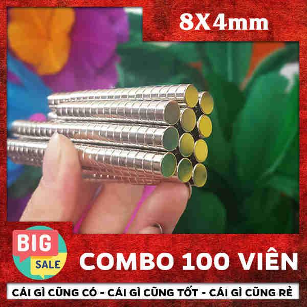 Nam Châm Tròn 8X4mm (32)