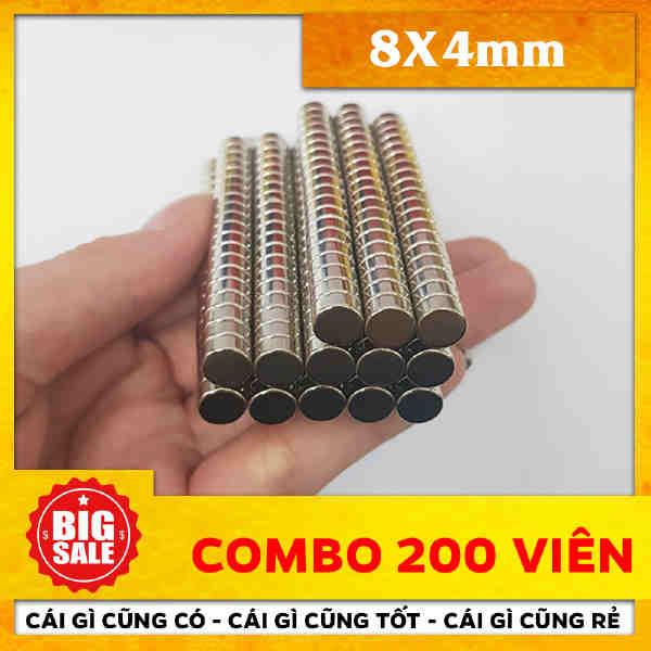 Nam Châm Tròn 8X4mm (33)