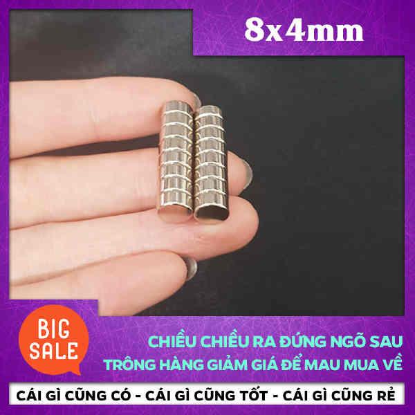 Nam Châm Tròn 8X4mm (37)