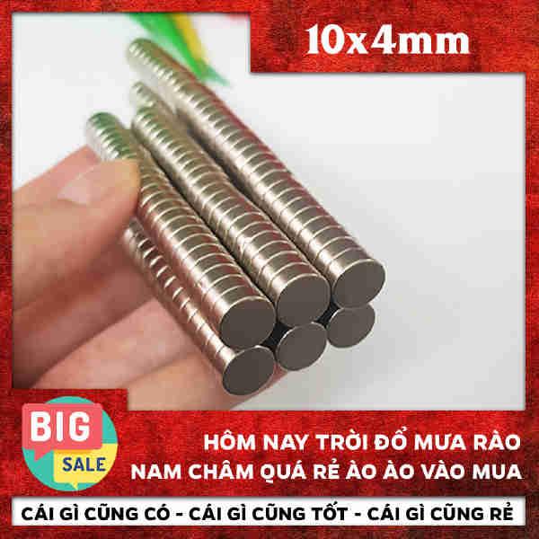 Nam Châm Tròn Vĩnh Cửu - Điện Lực Hút Siêu Mạnh 10x4mm (1)