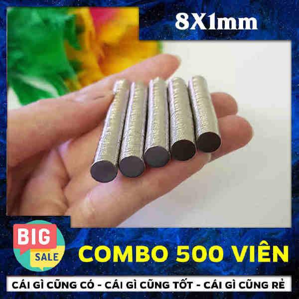 Nam Châm Vĩnh Cửu Hình Tròn 8x1mm (12)