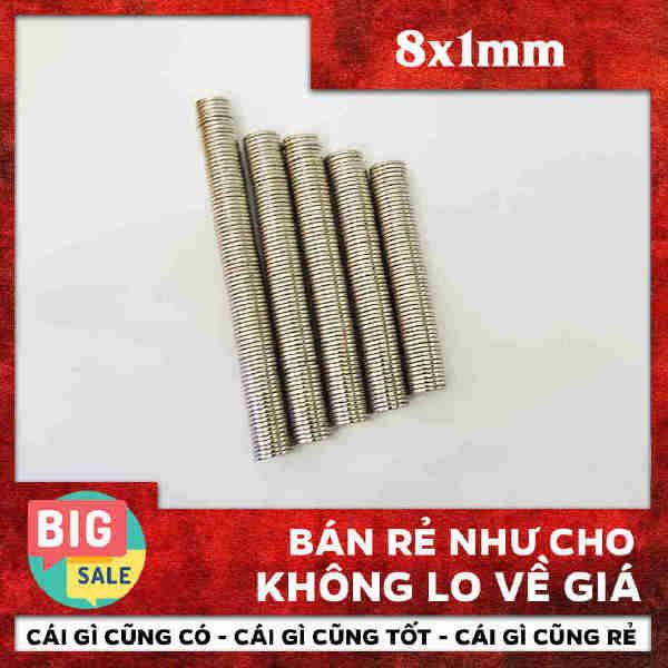 Nam Châm Vĩnh Cửu Hình Tròn 8x1mm (19)