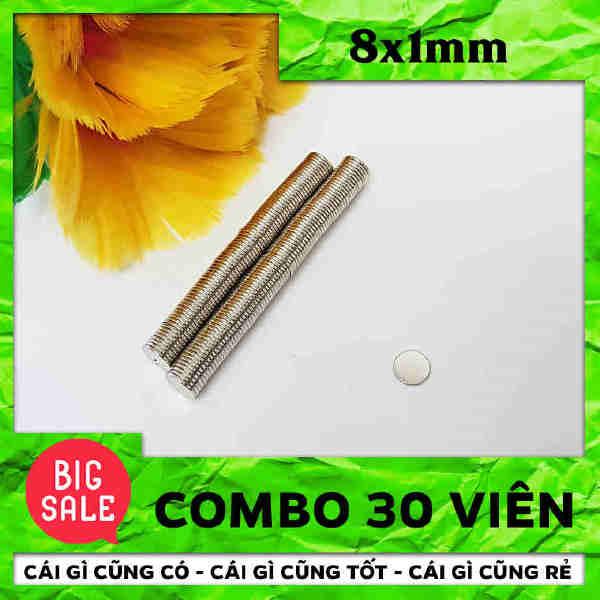 Nam Châm Vĩnh Cửu Hình Tròn 8x1mm (6)