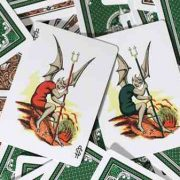 Limited Edition Late 19th Century Vanity, Clown Playing Cards (1)