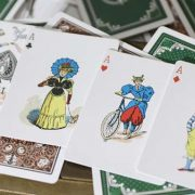 Limited Edition Late 19th Century Vanity, Clown Playing Cards (4)