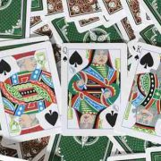 Limited Edition Late 19th Century Vanity, Clown Playing Cards (5)