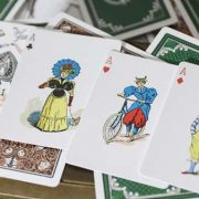 Limited Gilded Edition Late 19th Century Vanity (Creature) Playing Cards (5)