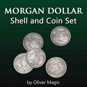 Morgan - Dollar -Shell - and - Coin - Set (4 Coins 1 Shell)
