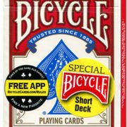 Bicycle- Short- Deck (Red) by- US- Playing- Card