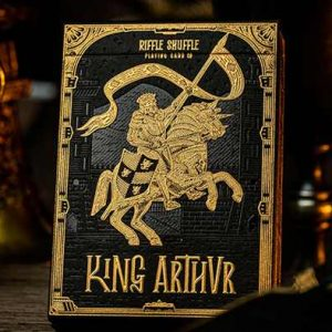 King- Arthur- Golden -Knight -(Foiled Edition)- Playing -Cards- by- Riffle- Shuffle (5)