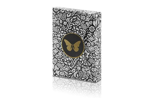 Limited- Edition- Butterfly- Playing- Cards- Marked -(Black and Gold) -by- Ondrej- Psenicka (1)