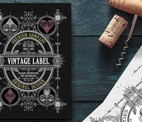 Vintage Label Playing Cards (Private Reserve White) by Craig Maidment (5)