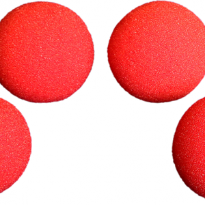 1.5 inch-High-Density-Ultra-Soft-Sponge-Ball-(Red)-Pack-of-4-from-Magic-by-Gosh
